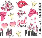 cartoon valentines power girl... | Shutterstock .eps vector #1320030023