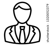 business person vector icon...   Shutterstock .eps vector #1320052379