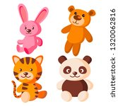 children soft toys vector. bear ... | Shutterstock .eps vector #1320062816