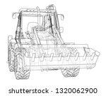 sketch of loading shovel with... | Shutterstock .eps vector #1320062900