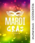 mardi gras carnival background...   Shutterstock .eps vector #1320063536