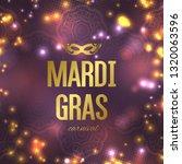 mardi gras carnival background...   Shutterstock .eps vector #1320063596