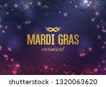 mardi gras carnival background...   Shutterstock .eps vector #1320063620