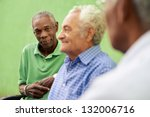 retired elderly people and free ... | Shutterstock . vector #132006716