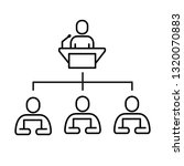 business structure vector line...   Shutterstock .eps vector #1320070883