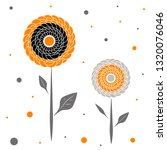 cute vintage floral holiday...   Shutterstock .eps vector #1320076046