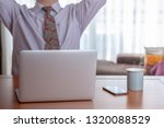 businessman in his shirtsleeves ... | Shutterstock . vector #1320088529