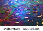 a field of hexagons in a... | Shutterstock . vector #1320101306