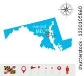 maryland map isolated on white... | Shutterstock . vector #1320105860