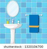 bathroom ceramic wash basin ... | Shutterstock .eps vector #1320106700