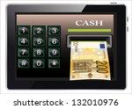 online payments in tablet pc... | Shutterstock . vector #132010976