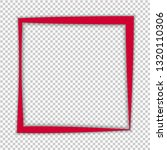 red curved square isolated on... | Shutterstock .eps vector #1320110306