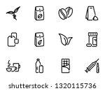 set of black vector icons ... | Shutterstock .eps vector #1320115736