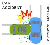 car accident concept... | Shutterstock .eps vector #1320116813