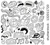 time watches   doodles | Shutterstock .eps vector #132011720