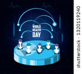 world health day card with...   Shutterstock .eps vector #1320119240