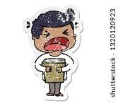 distressed sticker of a cartoon ...   Shutterstock .eps vector #1320120923