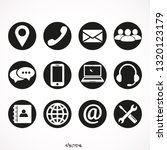 contact us icons  support and ... | Shutterstock .eps vector #1320123179