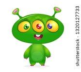 cartoon character funny alien... | Shutterstock .eps vector #1320127733