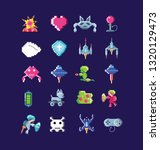 classic video game set icons | Shutterstock .eps vector #1320129473
