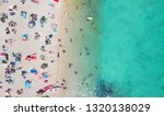 beach and waves from top view....   Shutterstock . vector #1320138029