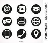 contact  vector icon set  ... | Shutterstock .eps vector #1320138080