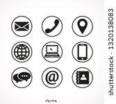 contact  vector icon set  ... | Shutterstock .eps vector #1320138083