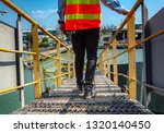 safety shoe of worker or... | Shutterstock . vector #1320140450