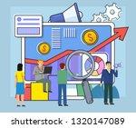 business growth  analytics ... | Shutterstock .eps vector #1320147089