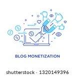 shake hands blog monetisation.... | Shutterstock .eps vector #1320149396