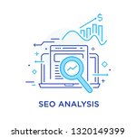 calculator  data  study. seo... | Shutterstock .eps vector #1320149399