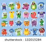 cartoon cute monsters   Shutterstock .eps vector #132015284