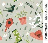 spring. vector seamless pattern....   Shutterstock .eps vector #1320153239