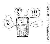 ringing phone. vector... | Shutterstock .eps vector #1320161243