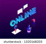 chatting online   modern... | Shutterstock .eps vector #1320168203