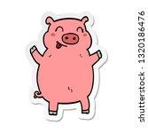 sticker of a cartoon pig   Shutterstock .eps vector #1320186476