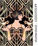 female hand holding cocktail... | Shutterstock .eps vector #1320193199