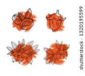 linear set of jojoba with paint ... | Shutterstock .eps vector #1320195599