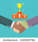cartoon  business handshake... | Shutterstock .eps vector #1320209786
