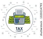 tax day finance card | Shutterstock .eps vector #1320214793