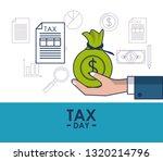 tax day finance card | Shutterstock .eps vector #1320214796
