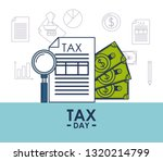 tax day finance card | Shutterstock .eps vector #1320214799