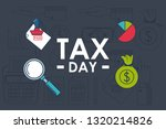 tax day finance card | Shutterstock .eps vector #1320214826