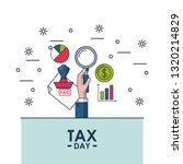 tax day finance card | Shutterstock .eps vector #1320214829