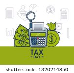 tax day finance card | Shutterstock .eps vector #1320214850