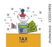 tax day finance card | Shutterstock .eps vector #1320214856