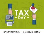 tax day finance card | Shutterstock .eps vector #1320214859