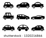 Stock vector solid icons set transportation car side view vector illustrations 1320216866