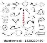 hand drawn arrow set | Shutterstock .eps vector #1320230480