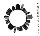 urbanscape silhouette.... | Shutterstock .eps vector #1320263216